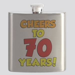 Cheers To 70 Years Drinkware Flask