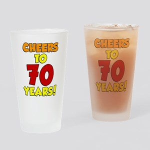 Cheers To 70 Years Drinkware Drinking Glass