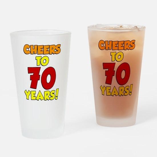 Cheers To 70 Years Drinkware Drinking Glass