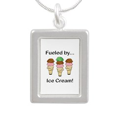 Fueled by Ice Cream Silver Portrait Necklace
