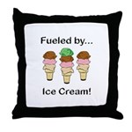 Fueled by Ice Cream Throw Pillow