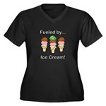 Fueled by Ic Women's Plus Size V-Neck Dark T-Shirt