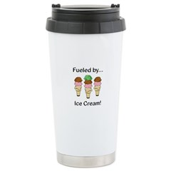 Fueled by Ice Cream Stainless Steel Travel Mug
