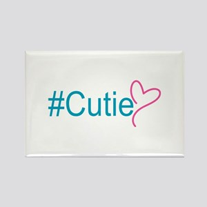 Hashtag Cutie Heart Rectangle Magnet (10 pack)