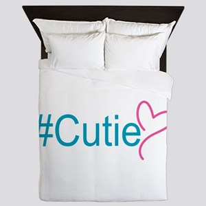 Hashtag Cutie Heart Queen Duvet
