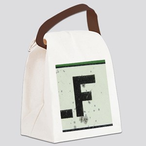 Letter F Canvas Lunch Bag