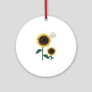 Sun Flowers Ornament (Round)