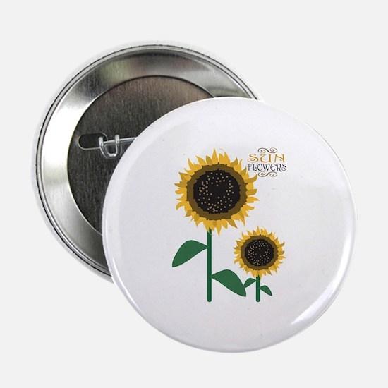 """Sun Flowers 2.25"""" Button"""