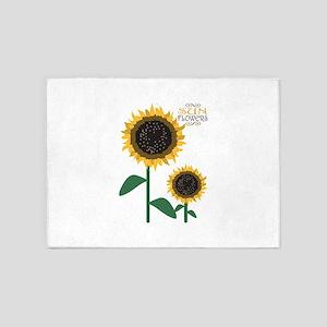 Sun Flowers 5'x7'Area Rug