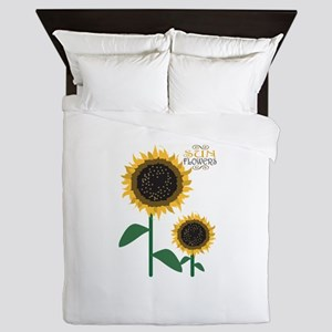 Sun Flowers Queen Duvet