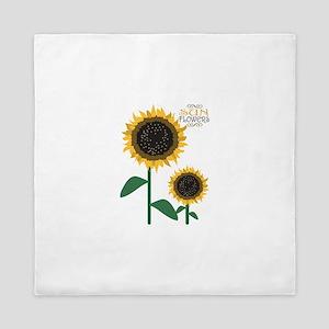 Sun Flowers Queen Duvet