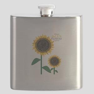 Sun Flowers Flask