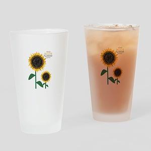 Sun Flowers Drinking Glass