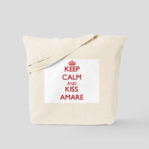 Keep Calm and Kiss Amare Tote Bag