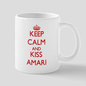 Keep Calm and Kiss Amari Mugs