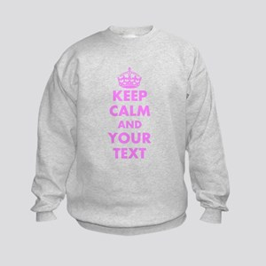 Pink keep calm and carry on Sweatshirt