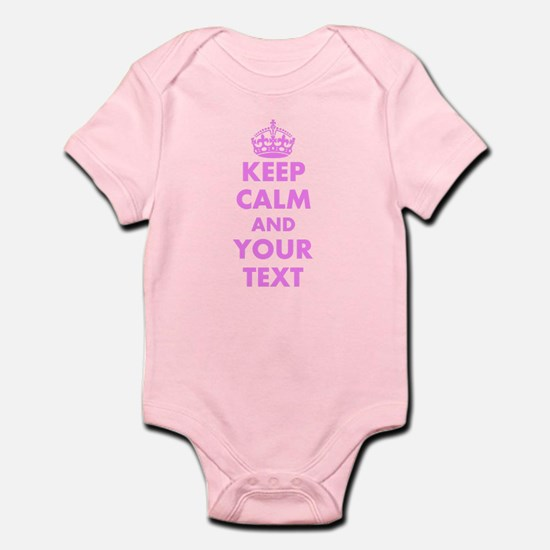 Pink Keep Calm And Carry On Body Suit Personalized