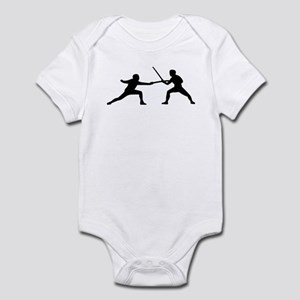 Fencing fencer couple Infant Bodysuit