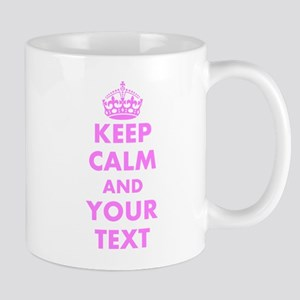 Pink keep calm and carry on Mugs