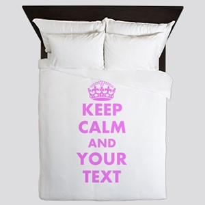 Pink keep calm and carry on Queen Duvet