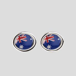 Australia Soccer Ball Oval Cufflinks