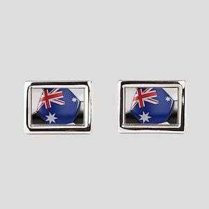 Australia Soccer Ball Rectangular Cufflinks