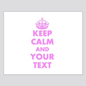 Pink keep calm and carry on Posters
