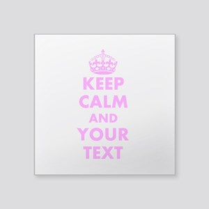 Pink keep calm and carry on Sticker