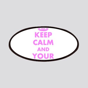 Pink keep calm and carry on Patches