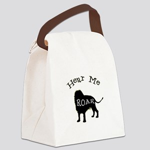 Hear Me Roar Canvas Lunch Bag