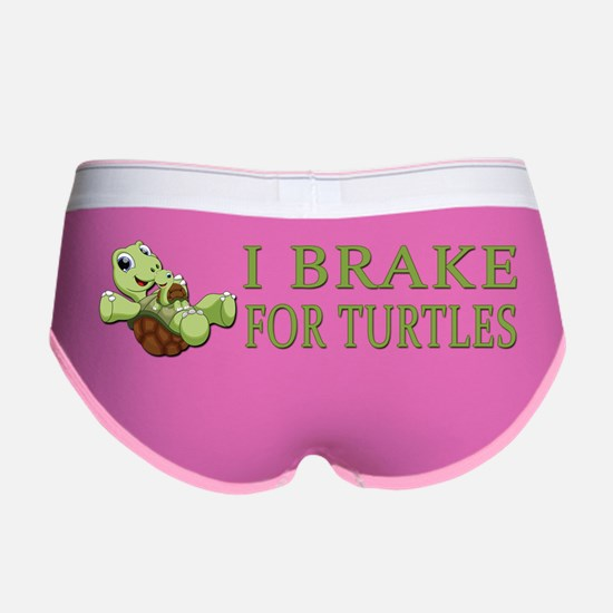 I Brake for Turtles Women's Boy Brief