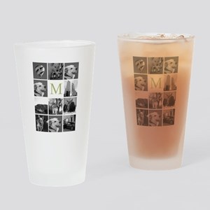 Monogram and Photoblock Drinking Glass