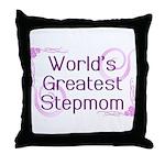 World's Greatest Stepmom Throw Pillow