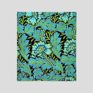 William Morris - Anemone Pattern in  Throw Blanket