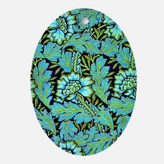 William Morris - Anemone Pattern in  Oval Ornament