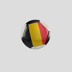 Belgium Soccer Ball Mini Button