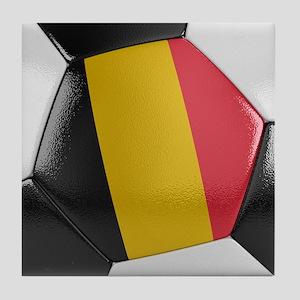 Belgium Soccer Ball Tile Coaster