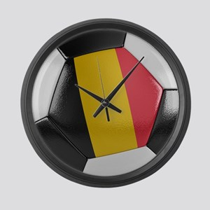 Belgium Soccer Ball Large Wall Clock