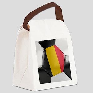 Belgium Soccer Ball Canvas Lunch Bag