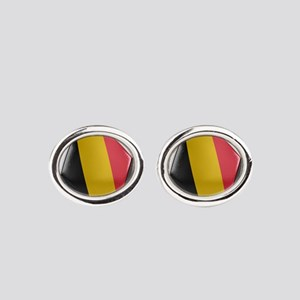 Belgium Soccer Ball Oval Cufflinks