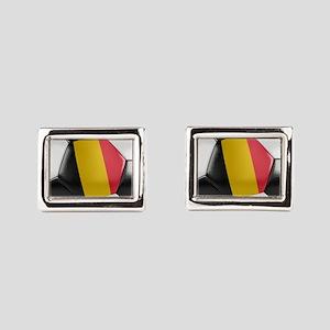 Belgium Soccer Ball Rectangular Cufflinks