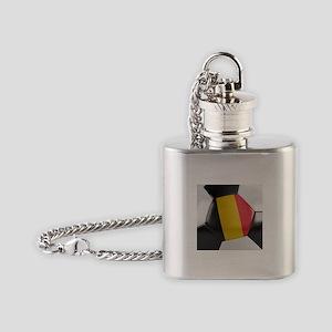 Belgium Soccer Ball Flask Necklace