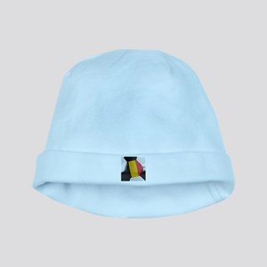 Belgium Soccer Ball baby hat