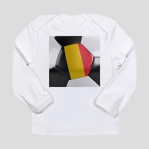 Belgium Soccer Ball Long Sleeve T-Shirt
