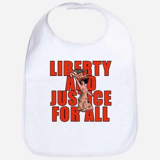 Liberty and Justice Bib