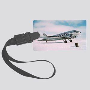 Vintage Air plane Hipster photo Large Luggage Tag