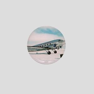 Vintage hipster travel airplane photo Mini Button