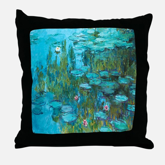 Water Lilies by Monet Throw Pillow