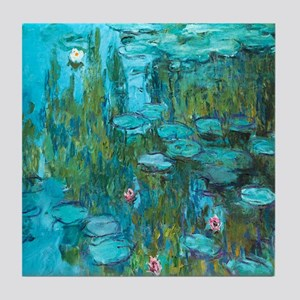 Water Lilies by Monet Tile Coaster