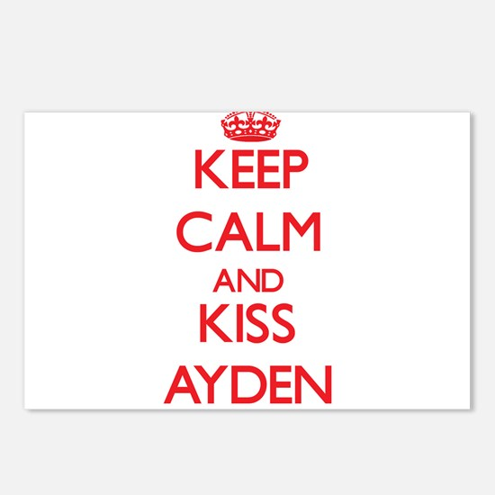 Keep Calm and Kiss Ayden Postcards (Package of 8)